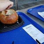 Clam Chowder in a sourdough bowl