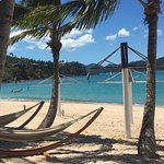 Hammocks for BC guests only - perfect to have a drink on the beach after sunset too!