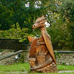 Dragon in the gardens