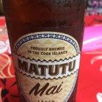 Matutu lager, Cook Island Brewed served at Rickshaw