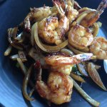 Caramelised shrimp