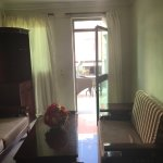Suite 104 has a sitting room and separate bedroom with large bathroom and jacuzzi. There is a la