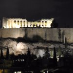 A view of the Acropolis from the hotel terrace