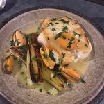 cod with mussels and leeks