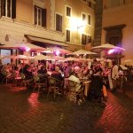 alfresco dining in the Piazza outside the hotel