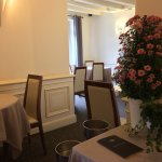 The dining room, simple but elegant