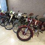 Presentation of old motor bikes