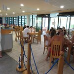 Dining near the pool area