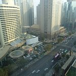 View towards Renmin Road from the 19th floor -