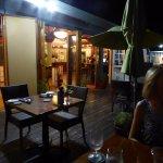 Dark outdoor dining...