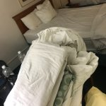 Bedding wasn't changed so they gave us linen to do it ourselves.
