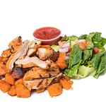 Grilled chicken with sweet potato