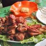 Roasted lamb leg..a meat lover's delight