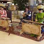 Performance at hotel lobby