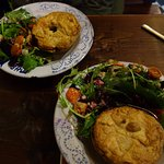 Wonderful veggie pies with side salads...Perfect for a cloudy day in Galway!