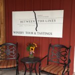 Entrance to Between the lines winery