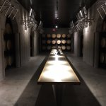 The cellar at the Pelletteri winery