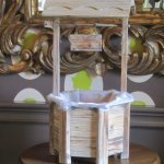 The delightful wishing well for cards during a wedding reception