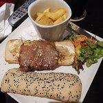 Very poor portion of steak in the steak sandwich.