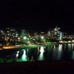 Vista nocturna desde el restaurante