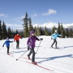 Family cross-country skiing at Whistler Olympic Park