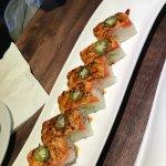 Salmon Oshi Aburi