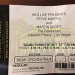 Steve Martin and Martin Short at The Colosseum in Las Vegas.
