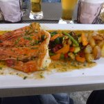 Lunch time food - Gambas Provencale