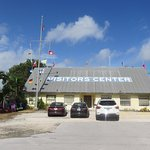 Front view of the Florida Keys Visitor Center on the right hand side (Gulf side).