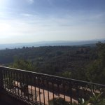 Our terrace view of the Umbrian Valley