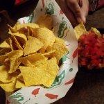 nachos salsa .. kinda obvious