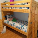set one of the bunk beds. 2 sets in the room