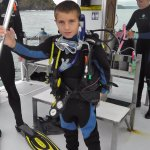 Christian on the dive boat.