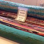 Hand woven rag rugs