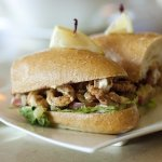 Lunch Special - Calamari Po'Boy sandwich and a clam chowder. So good.... it just make my day!