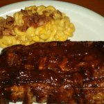 half-rack baby back ribs w/ chipotle bacon mac n cheese