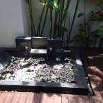 Our private outdoor bath on arrival