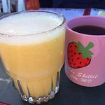 The juice is fresh!