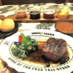 Rolls, Beer Sampler, Beans, Sirloin, Big Texan Steak Ranch, Amarillo, Texas