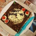 The delicious fresh cream cake ny Mr. Shyam n his team