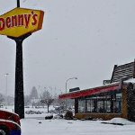 Denny's across the street. Atlso other restaurants and shopping within close by.