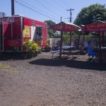 The truck and picnic area