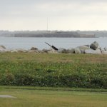 Fort Sumter seen from Fort Moutrie