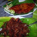 Fish fry and Prawn chilli kerala style.