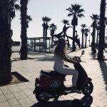 Via Vespa Barcelona Beach