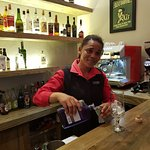 One of the awesome staff serving in the Karee Tapas bar