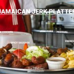Experience the authentic Sand Bar's Jerk Platter.