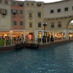 The canal and gondolas