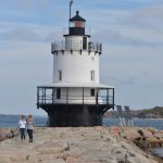 Light House with granite path