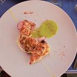 Beautiful fresh swordfish dish